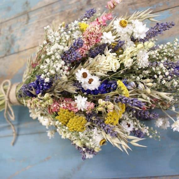 Festival Meadow Dried Flower Bouquet   Etsy