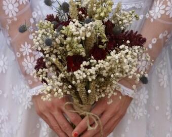 Rustic Winter Dried Flower Bouquet