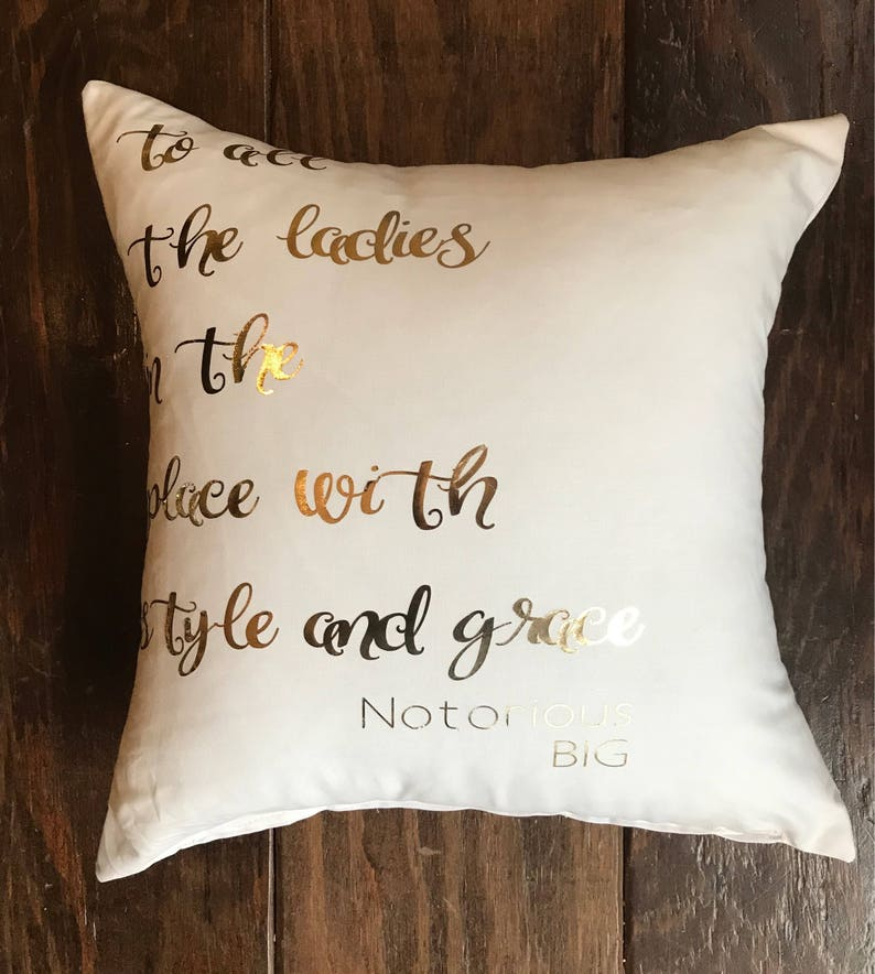 Notorious Big Pillow Quote Biggie Smalls Girl Hip Hop Etsy