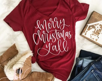 merry christmas yall svg merry christmas yall hand lettered svg