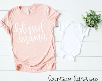 Blessed Mama SVG - Blessed Mama - Mama SVG - Mom Life SVG - Mom svg - Cricut svg