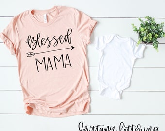 Blessed Mama SVG - Blessed Mama - Hand Lettered SVG