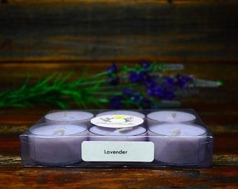 Lavender Tea Light Set