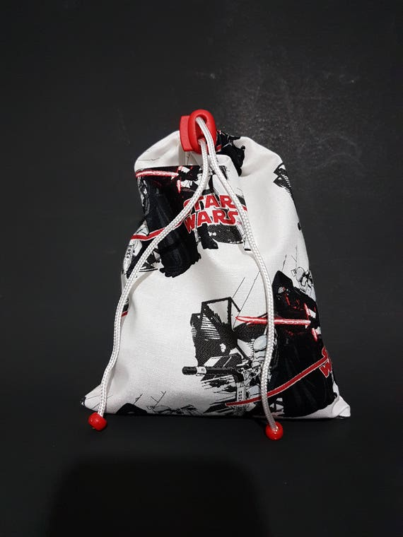 Red Dice Bag Made from Fabric depicting Star Wars Stormtroopers