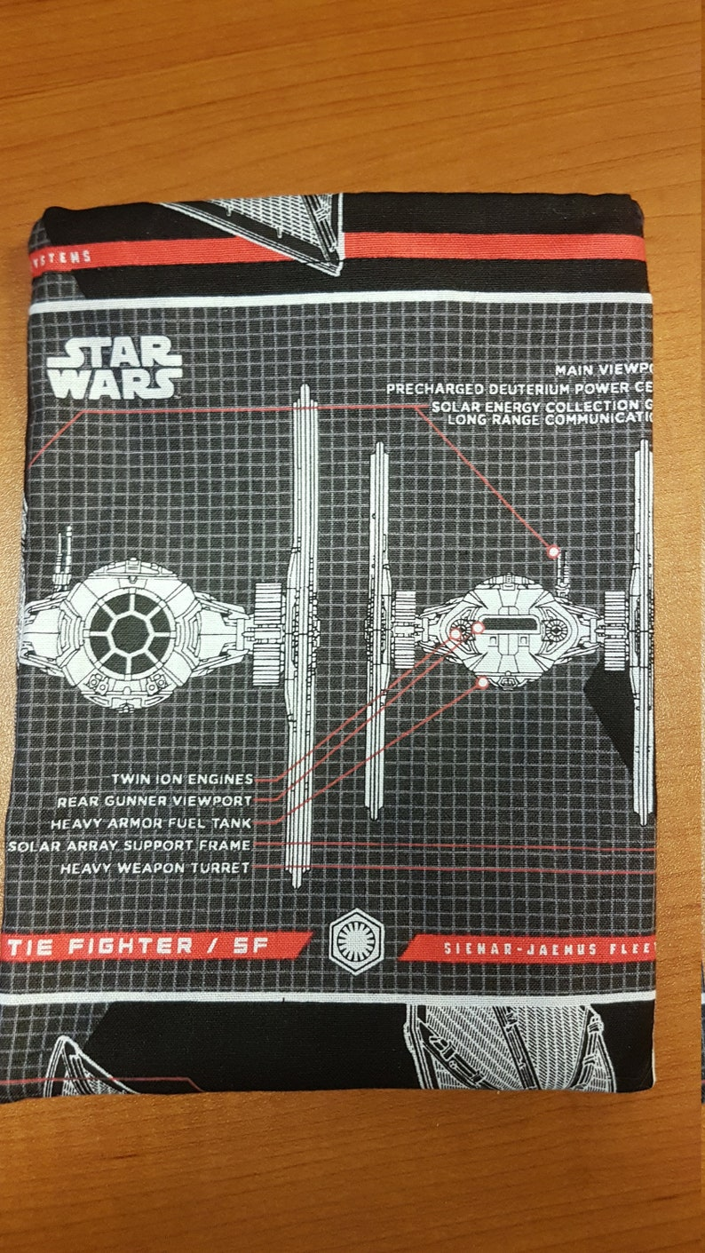 Galactic Empire RedBlack Dice Bag Made from Fabric Depicting a Tie Fighter from Star Wars