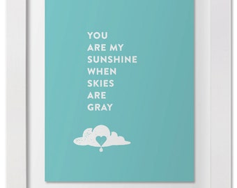 You Are My Sunshine — Wall Art