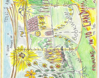 INNER   CHILD   ;      open-book  , spiritual guidance, soul energy drawing, , illustration, story, book,