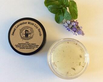 Organic Lip Scrub - Lip Scrub - Sugar Scrub - Lip Sugar Scrub - Scrub for Lips - Lavender Mint Scrub - Lip Exfoliating - Face Scrub