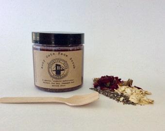 Rosy Oats Face Scrub - Oatmeal Face Scrub - Cleansing Grains - Rose Face Scrub - Chia Face Scrub - Exfoliating Scrub - Gentle Scrub Organic