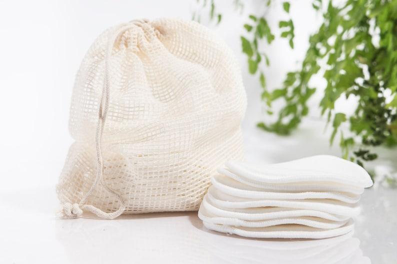 16 Reusable Cotton Rounds Organic Bamboo Cotton Makeup Remover image 0