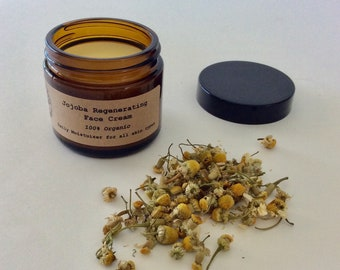 Jojoba Regenerating Face Cream - Organic Jojoba Moisturizer - Ant Aging Cream - Organic Face Cream - Organic Eye Serum - Acne Cream