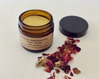 Rosehip Regenerating Face Cream - Organic Rosehip Moisturizer - Ant Aging Cream - Organic Face Cream - Organic Eye Serum - Wrinkle Cream