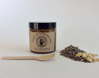 Lavender Oats & Clay Face Scrub - Oatmeal Face Scrub - Lavender Face Scrub - Rhassoul Face Scrub - Exfoliating Scrub - Cleansing Grains