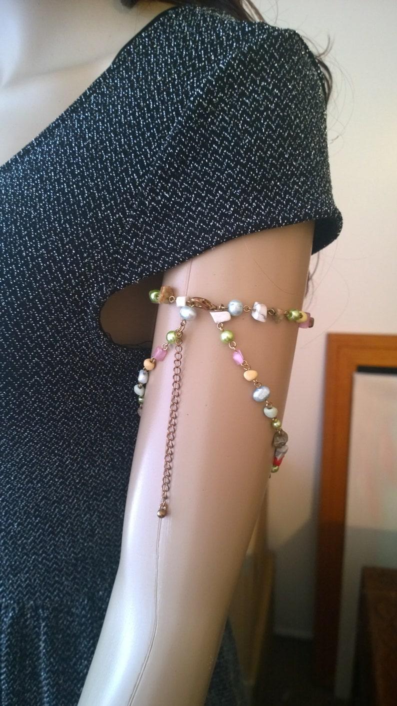 Hippie Jewelry Bohemian Chain Jewelry Stone Arm Chain Body Jewelry