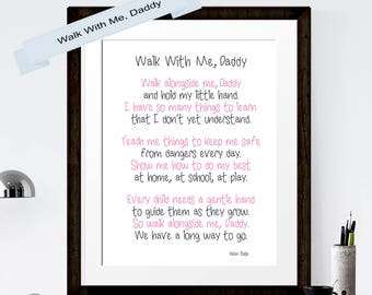 photo regarding Walk With Me Daddy Poem Printable identify To start with Fathers Working day Wander With Me Daddy Fathers Working day Print