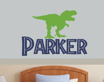 Dinosaur Footprint Custom Personalized Name Wall Sticker Boy Decal Nursery Decor