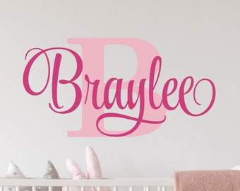 Initial Wall Decal Etsy