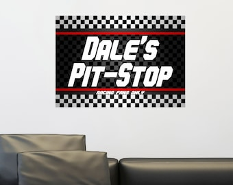 Personalized//Customized Nascar Dale Name Poster Wall Art Decoration Banner