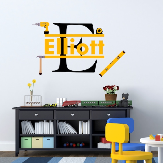 Baseball Wall Stickers For Boys Room Several Sizes and over 30 Colors Personalized Baseball Batter Wall Decal Batter Up Baseball Decor