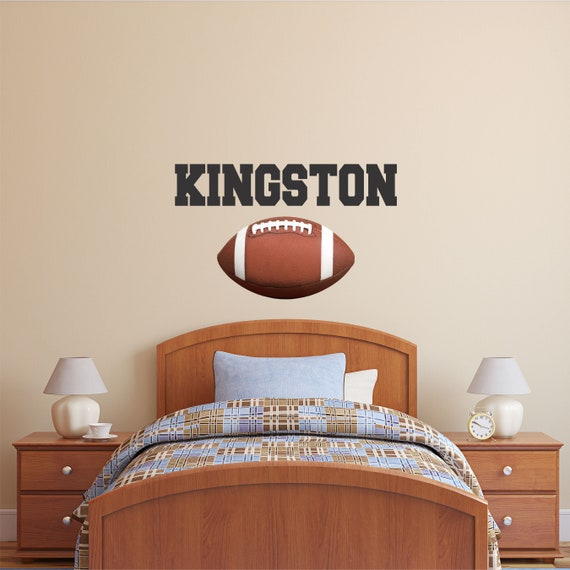 personalized name football wall decal custom name football | etsy