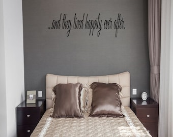 They Lived Happily Ever After Wall Decal Sticker