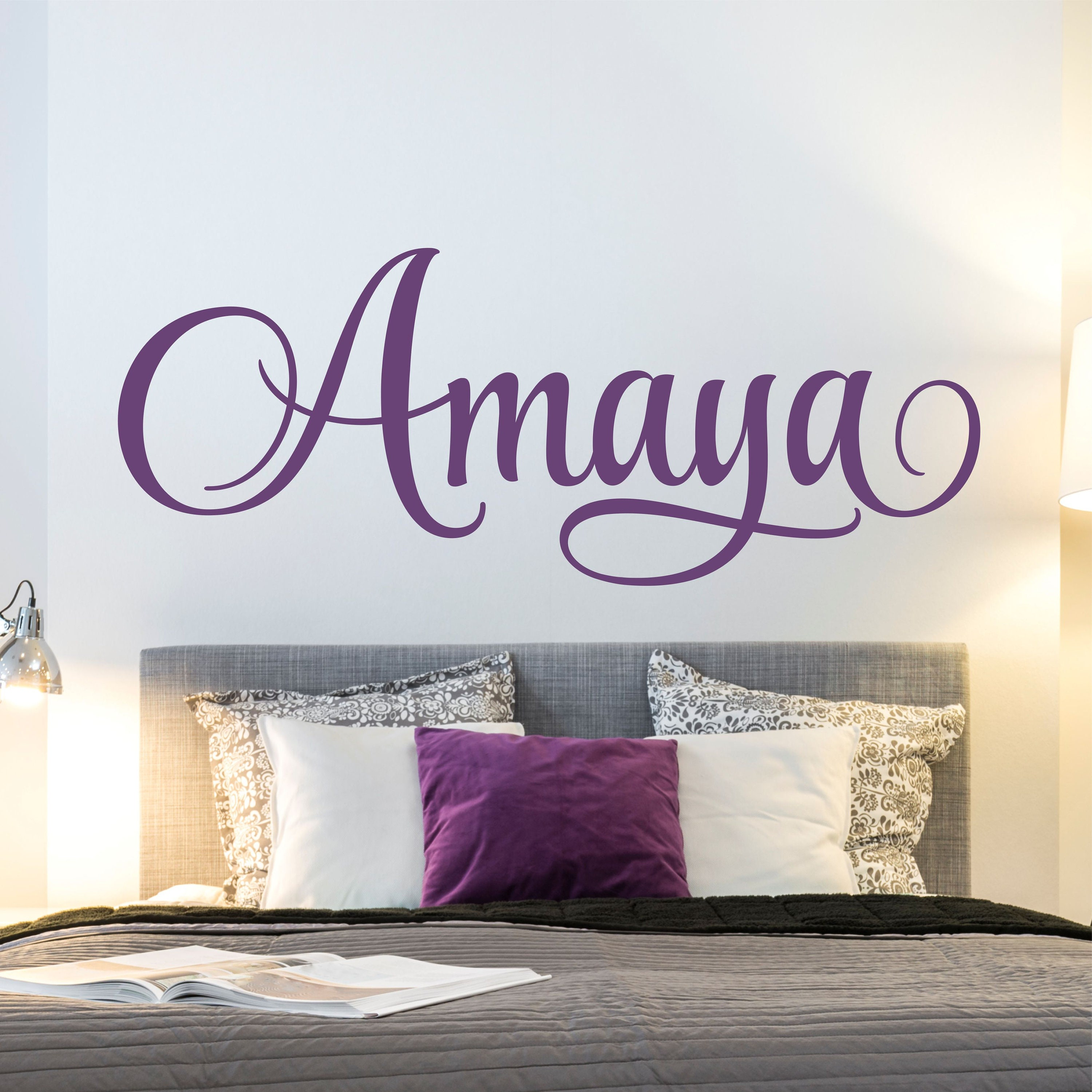 Girls Room Personalized Name Wall Decal Kids Nursery Room Vinyl Wall Stickers