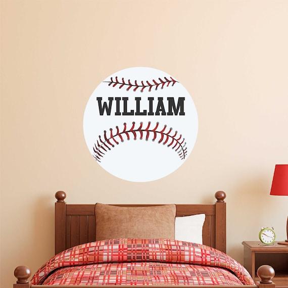 Baseball Player Vinyl sticker Baseball Wall Decal Wall Art CUSTOM NAME jersey numbers Baseball bedroom decor baseball picther kids