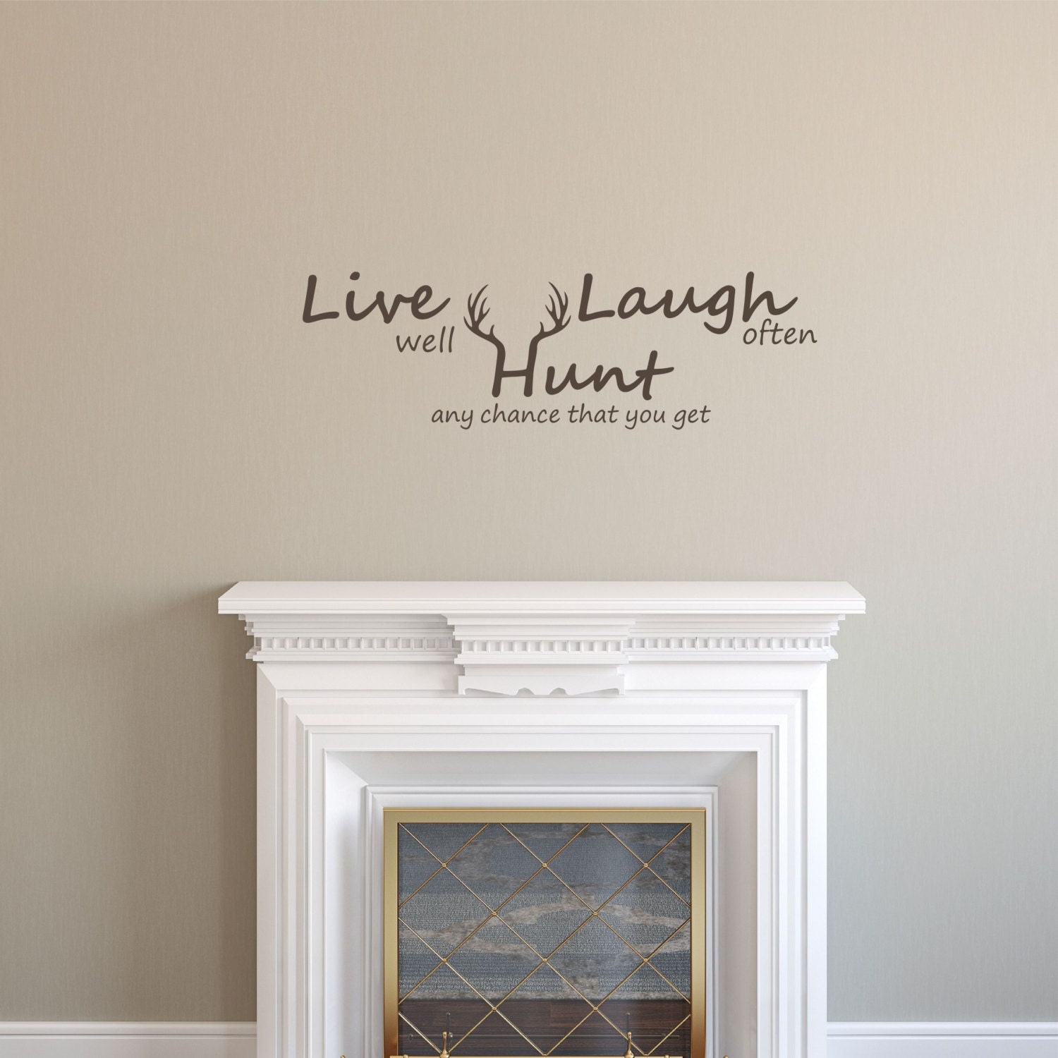 Live Laugh Hunt Decal Live Laugh Love Wall Decal Hunting Etsy