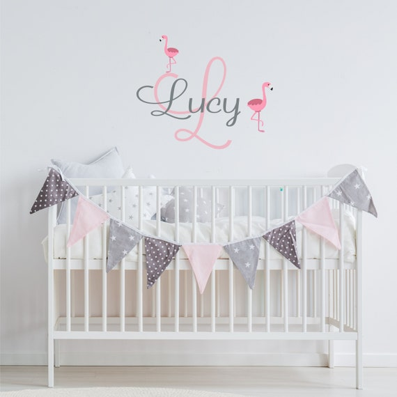 Name Wall Decal Sticker Custom Name Wall Decal Girls Room Boys Room Baby Monogram Vinyl Wall Art Personalized Name Wall Decal Nursery Decal