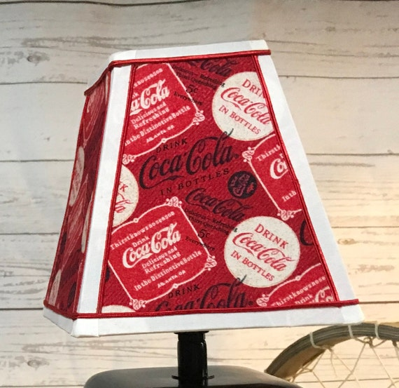 Extra Small Fabric Lampshade - Coca-Cola - Square