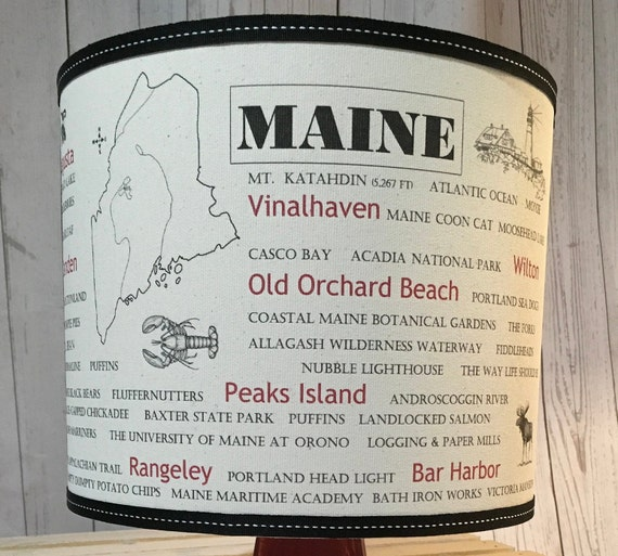 "Custom Maine Lampshade - Medium - 10"" Round"