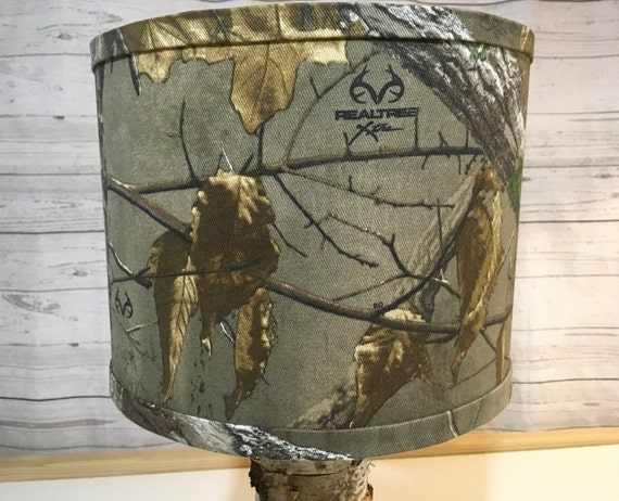 "070a  Realtree Camo Fabric Lampshade - 6"" Round"