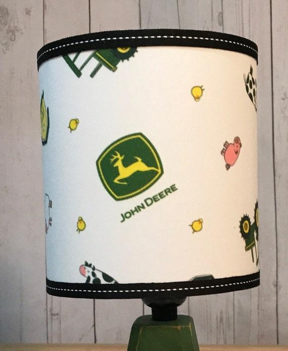 """C003 Small John Deere Baby Fabric Lampshade - 8"""" Round"""