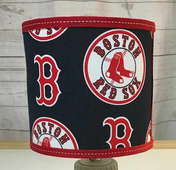 "Small MLB - ANY TEAM - Red Sox Fabric Lampshade - 8"" Round"