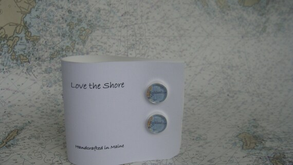 Cuff Links - Map or Nautical Chart - ANY LOCATION you choose!