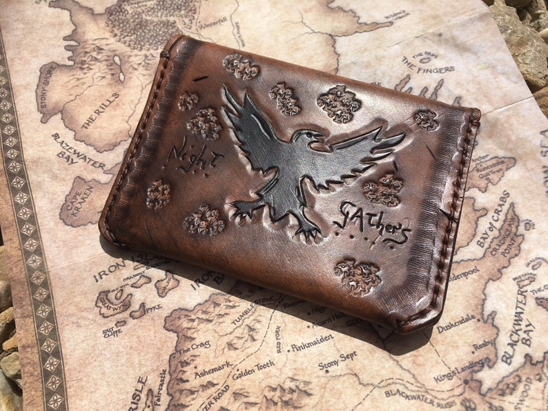 Game of Thrones Targaryen Short Wallet Zipper Coins Bifold Brown Black Purse