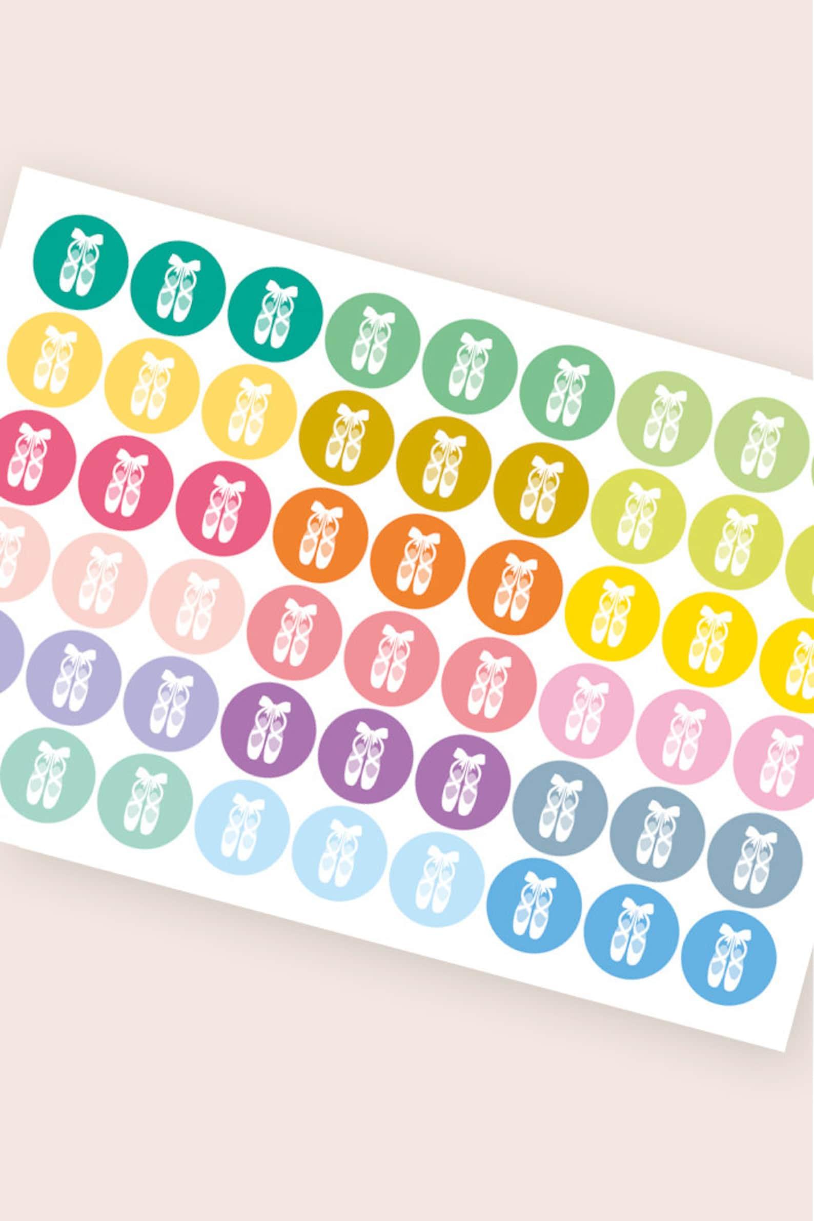ballet stickers, dance stickers, ballet shoes stickers, planner stickers, scrapbook reminder organizer, barre stickers