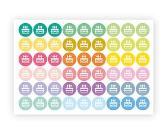 Repositionable birthday stickers, party sticker, planner stickers, reminder birthday, eclp filofax happy planner kikkik