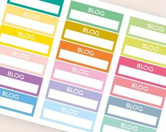 18 blank stickers, blog bar sticker, box stickers, blank label, planner stickers, scrapbook reminder happy planner sticker