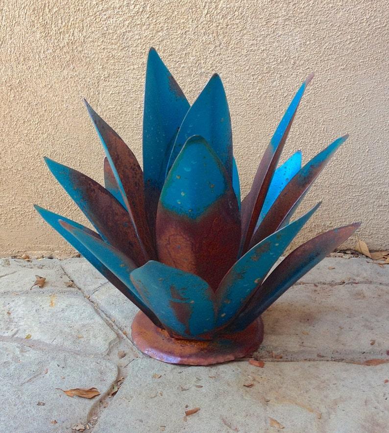Blue Baby Tequila Agave Metal Yard Art Metal Garden | Etsy