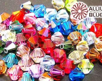 36 Preciosa MC Cube beads in 4mm Crystal AB.