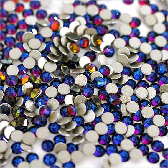 Bleu Zircon Brillant No hotfix 229 Shim cristal de Swarovski 2058 2088 Perles Gem