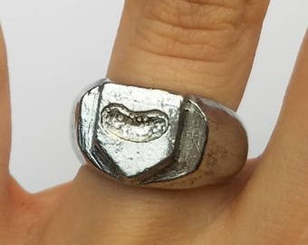 Pickle coat of arms signet ring