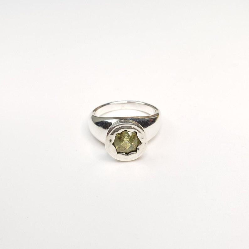 Custom cushion cut mali garnet sterling silver ring