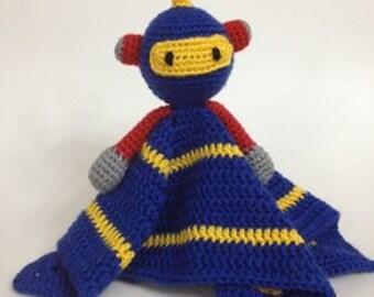 Soft Blue Robot Security Blanket