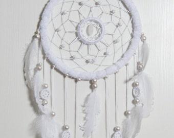 Large White Dream Catcher, White feathers Dreamcatcher, boho dreamcatchers, wedding decor, sweet dreams, wall hanging, wall decor, handmade
