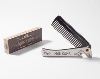 Man Comb 'Limited Edition' /Bottle Opener (black). The ultimate tool for your hair, beard and beer. Men's Gift
