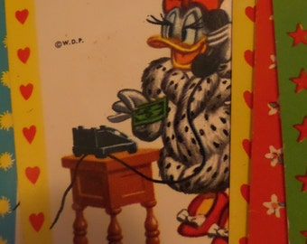 Walt Disney Productions Mickey Mouse And Friends Card Game 1960s