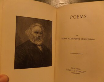 Poems by Henry Wadsworth Longfellow Hurst and CO. 1925