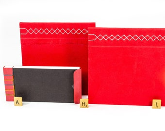 Red Stab-Bound Books